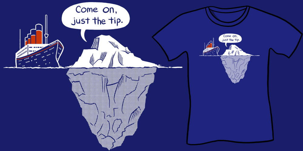 Just The Tip T-Shirt  - Sharksplode Funny Parody Shirts Tee Shirts Nerd Shirts Geek Clothes
