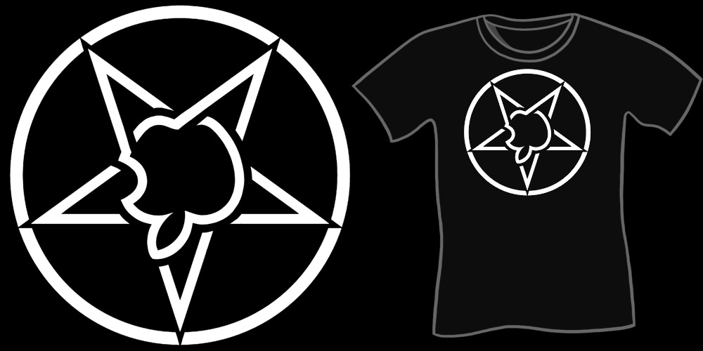 Apple Pentagram shirt, Funny Mac Apple Logo Parody Shirt