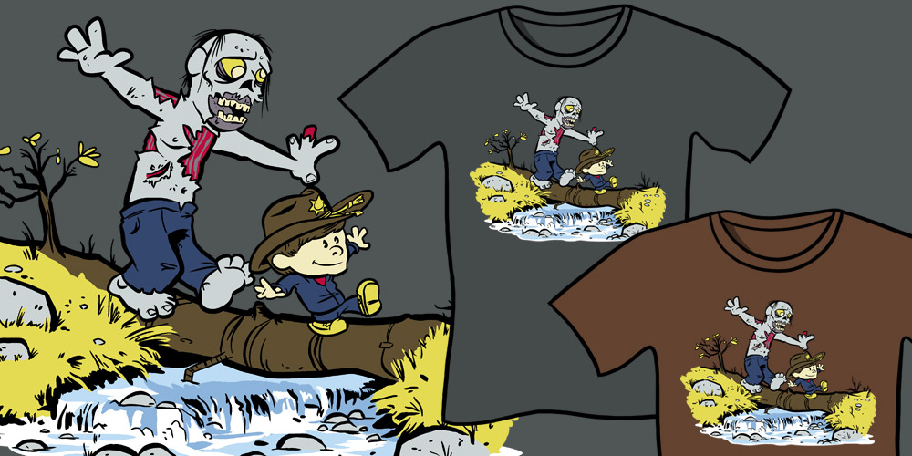 Where's Carl T-Shirt - The Walking Dead, Calvin And Hobbes Mashup T-Shirt