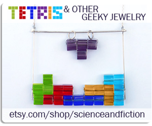 Tetris, necklace, video games, retro, necklace, geeky, jewelry